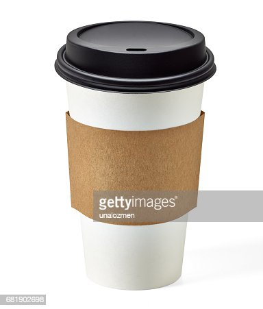 Blank take away coffee cup : Stock Photo