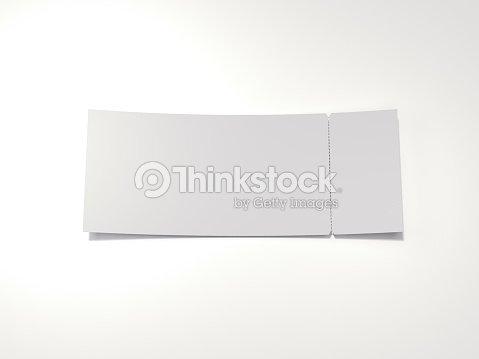 blank tearoff ticket 3d rendering stock photo thinkstock