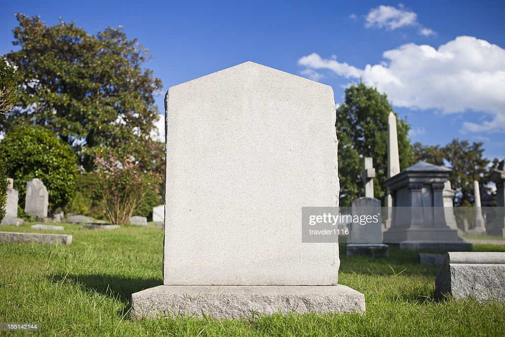 Blank Tombstone : Stockfoto
