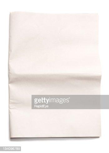 Blank unfolded newspaper