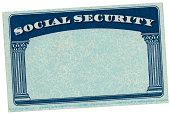 Blank USA Social Security Card