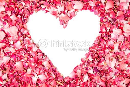 Blank Valentines Day Card Design Stock Photo