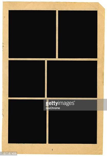 Blank Vintage Comic Book Frames