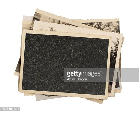 Blank vintage photo paper isolated : Stock Photo