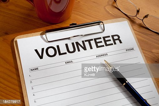 Blank Volunteer Sign Up Sheet With Clipboard And Pen Photo – Volunteer Sign Up Sheet Printable