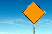 Blank Warning Caution Sign