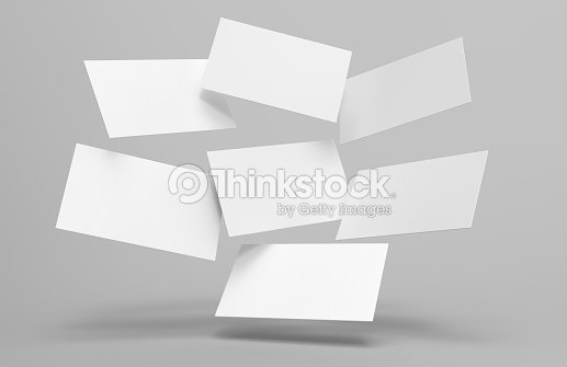 Blank white 3d visiting card and business card template 3d render illustration for mock up and design presentation. : Stock Photo