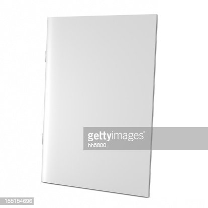 A blank white book cover on white