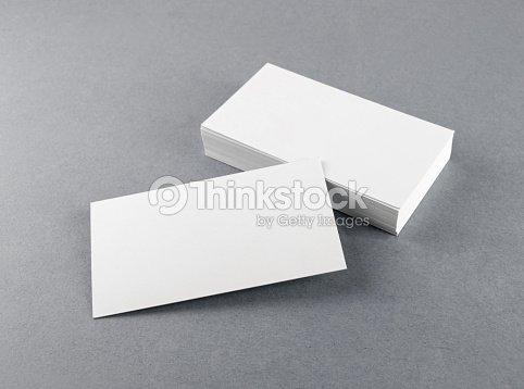 Cartes De Visite Vide White Photo