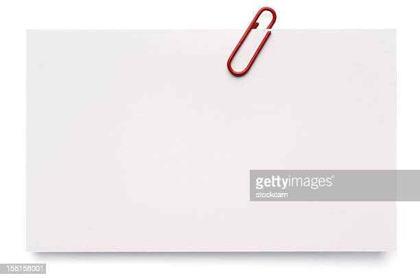 Blank White Index Card