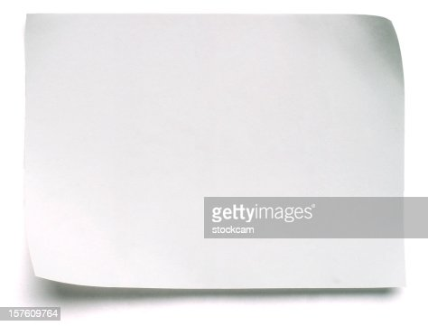Blank White Post-it Note