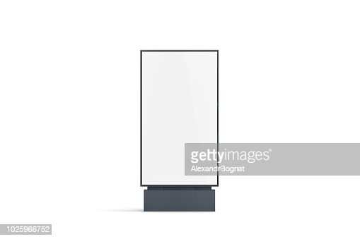 Blank white pylon mockup, front view, isolated : Foto de stock