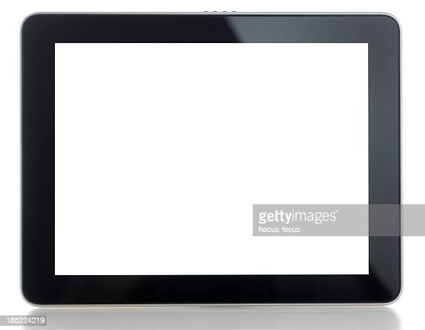 tablet pc con pantalla blanca en blanco