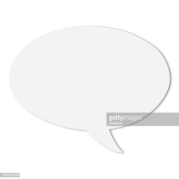 Em branco branco discurso bolhas
