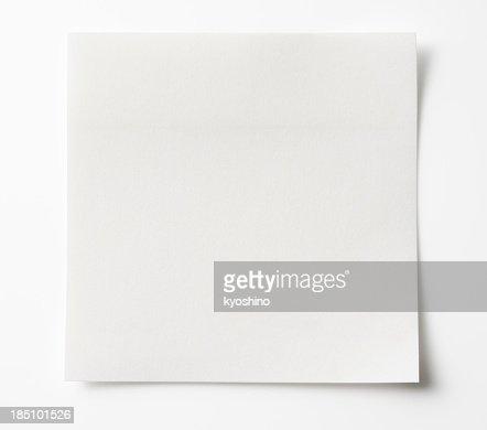 Blank White Sticky Note