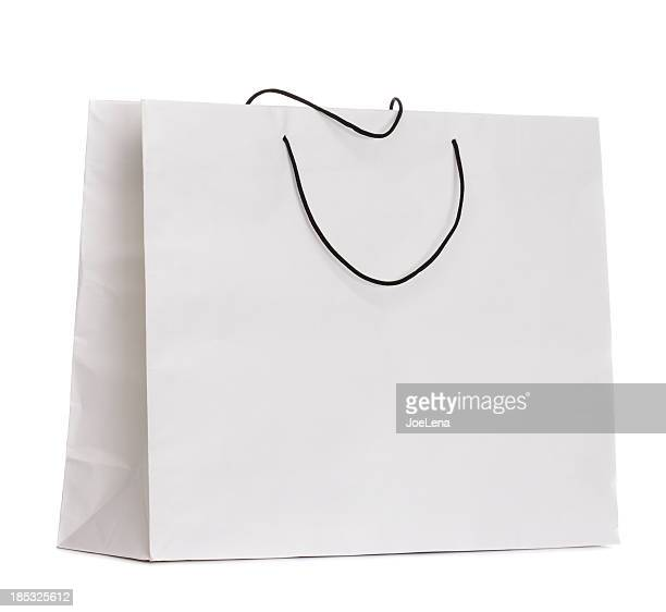 Blank White Used Paper Bag Isolated