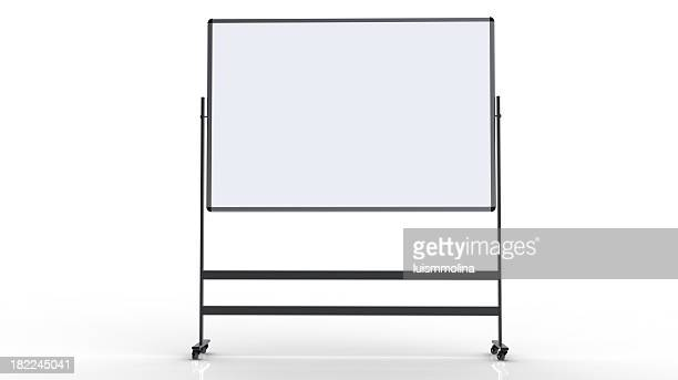 Blank whiteboard on a white background