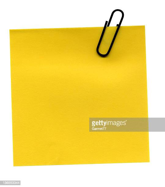 Blank Yellow Postit on white background