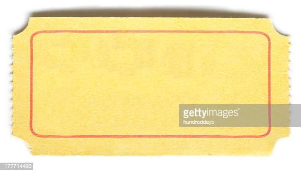 Leere Gelbes Ticket