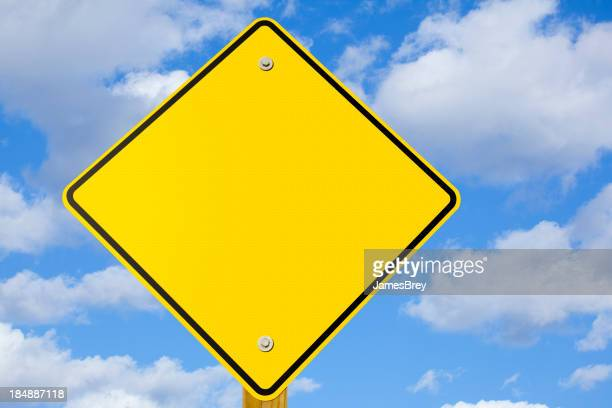 Blank Yellow Warning or Yield Sign