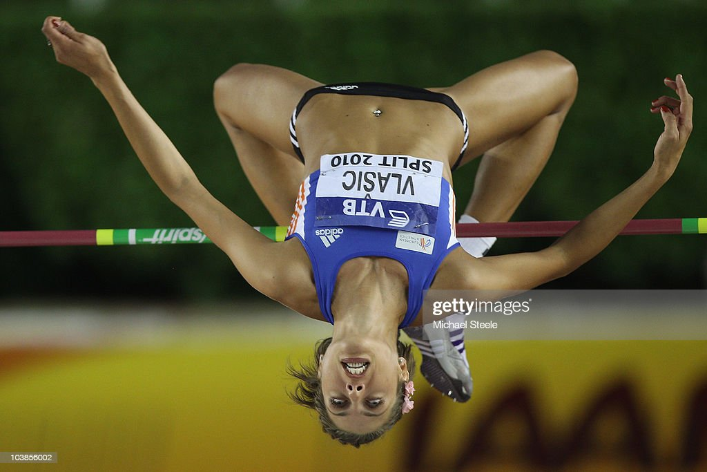 <a gi-track='captionPersonalityLinkClicked' href=/galleries/search?phrase=Blanka+Vlasic&family=editorial&specificpeople=597861 ng-click='$event.stopPropagation()'>Blanka Vlasic</a> of Croatia and Team Europe makes a clearance in the women's high jump during the IAAF/VTB Continental Cup at the Stadion Poljud on September 5, 2010 in Split, Croatia.