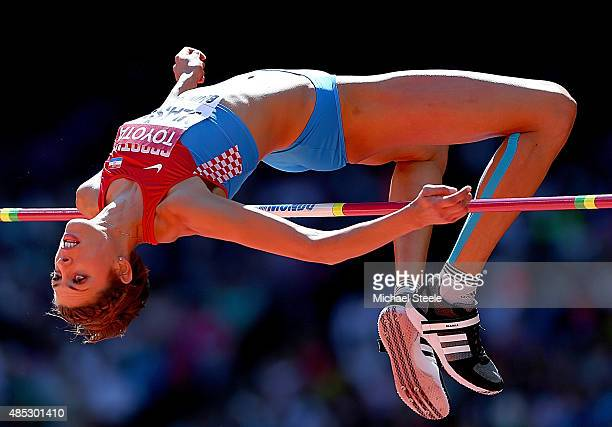 Blanka Vlasic of Croatia competes in the Women's High Jump qualification during day six of the 15th IAAF World Athletics Championships Beijing 2015...