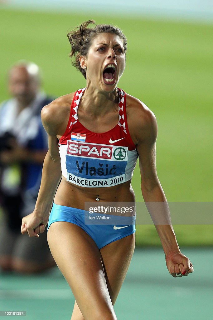<a gi-track='captionPersonalityLinkClicked' href=/galleries/search?phrase=Blanka+Vlasic&family=editorial&specificpeople=597861 ng-click='$event.stopPropagation()'>Blanka Vlasic</a> of Croatia competes in the Womens High Jump Final during day six of the 20th European Athletics Championships at the Olympic Stadium on August 1, 2010 in Barcelona, Spain.