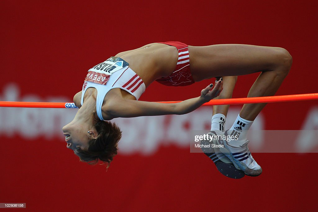 <a gi-track='captionPersonalityLinkClicked' href=/galleries/search?phrase=Blanka+Vlasic&family=editorial&specificpeople=597861 ng-click='$event.stopPropagation()'>Blanka Vlasic</a> of Croatia in the women's high jump during the IAAF Diamond League meeting at the Stade de France on July 16, 2010 in Paris, France.