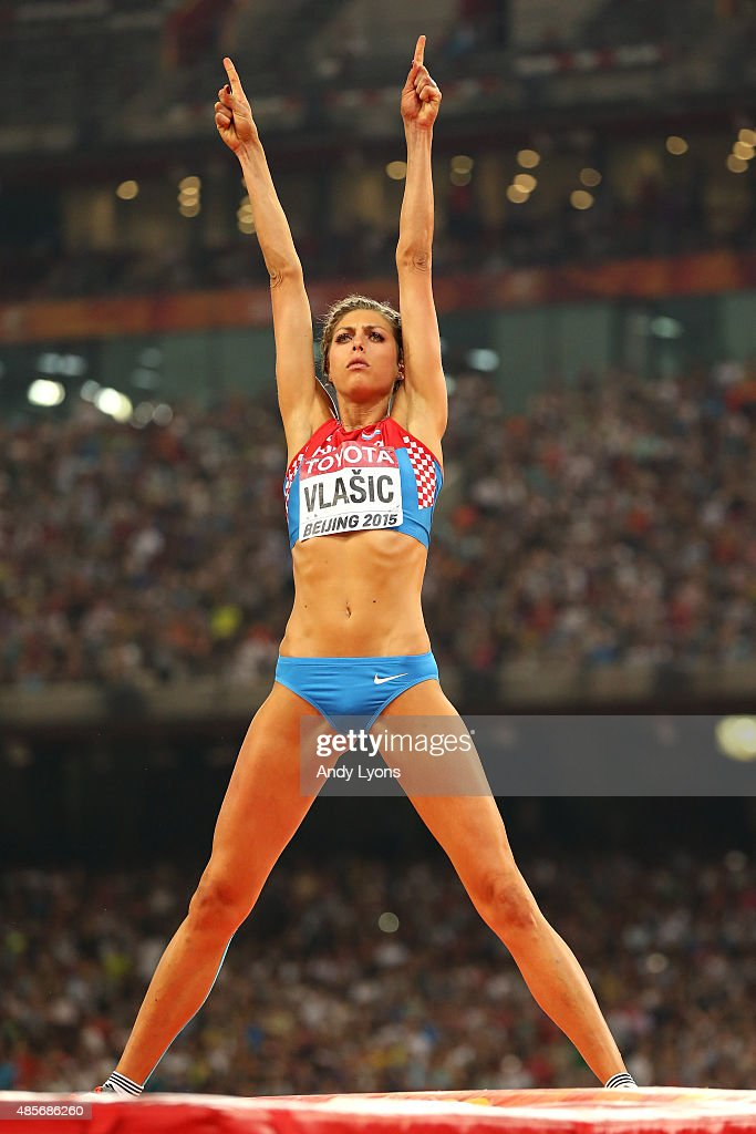 <a gi-track='captionPersonalityLinkClicked' href=/galleries/search?phrase=Blanka+Vlasic&family=editorial&specificpeople=597861 ng-click='$event.stopPropagation()'>Blanka Vlasic</a> of Croatia reacts after competing in the Women's High Jump final during day eight of the 15th IAAF World Athletics Championships Beijing 2015 at Beijing National Stadium on August 29, 2015 in Beijing, China.