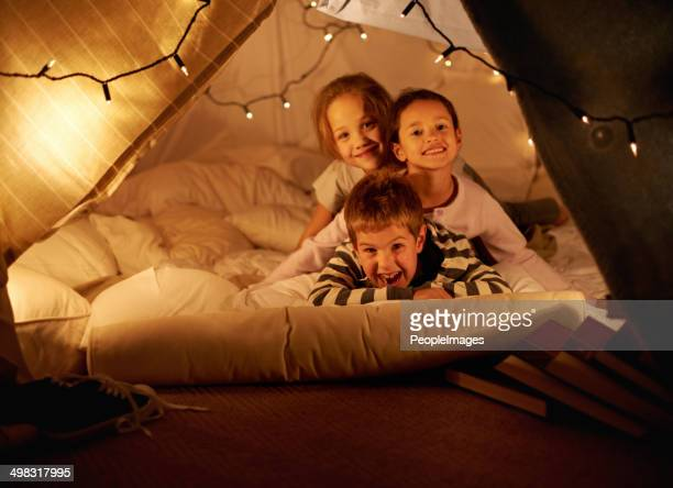 Blanket fort fun!