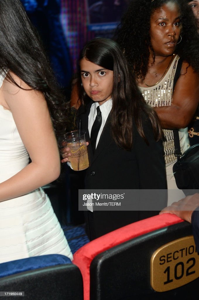 Blanket Jackson arrives at the world premiere of 'Michael Jackson ONE by Cirque du Soleil' at the Mandalay Bay Resort and Casino on June 29, 2013 in Las Vegas, Nevada.