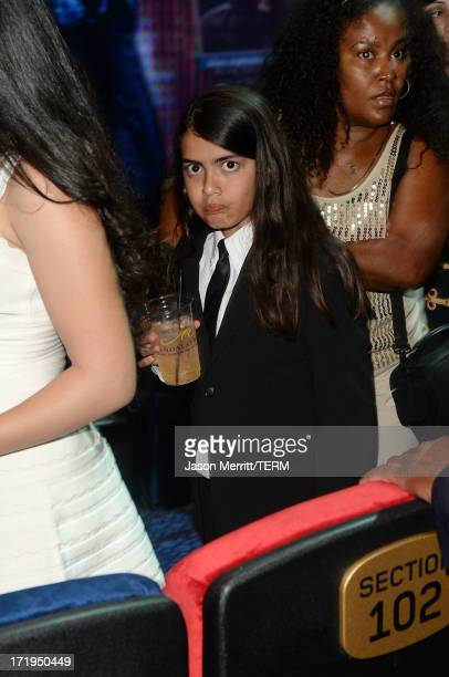 Blanket Jackson arrives at the world premiere of 'Michael Jackson ONE by Cirque du Soleil' at the Mandalay Bay Resort and Casino on June 29 2013 in...