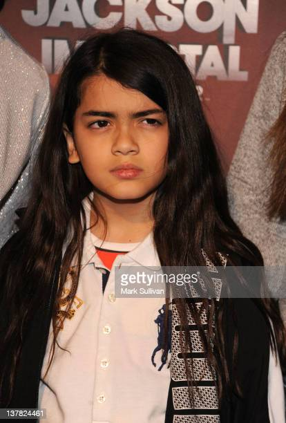 Blanket Jackson attends Cirque du Soleil's Michael Jackson 'The Immortal' World Tour Opening Night at Staples Center on January 27 2012 in Los...