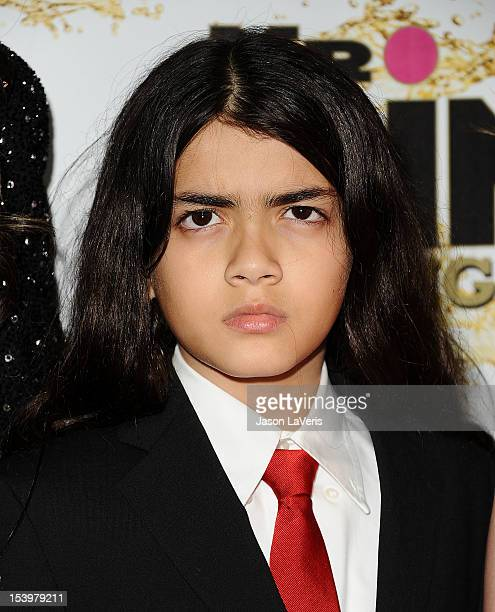 Blanket Jackson attends the Mr Pink Ginseng Drink launch party at Regent Beverly Wilshire Hotel on October 11 2012 in Beverly Hills California