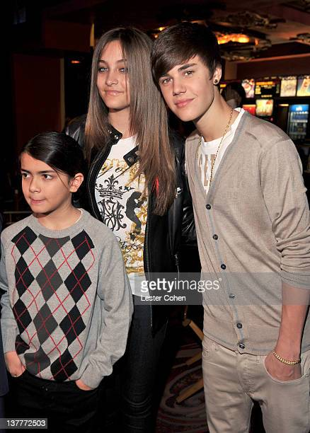 Blanket Jackson Paris Jackson and Justin Bieber attend the immortalization of Michael Jackson at Grauman's Chinese Theatre Hand Footprint ceremony...