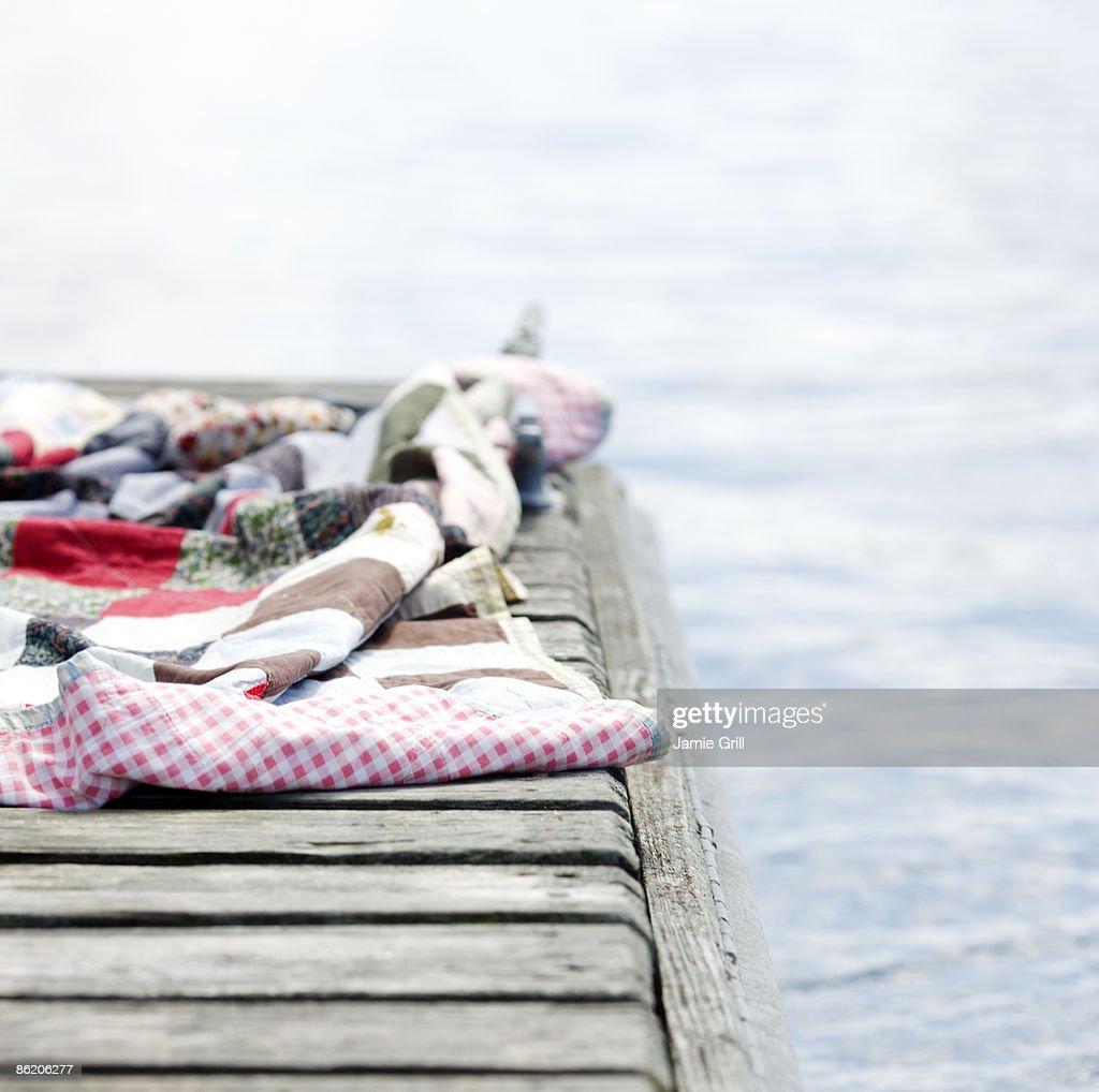 Blanket on dock