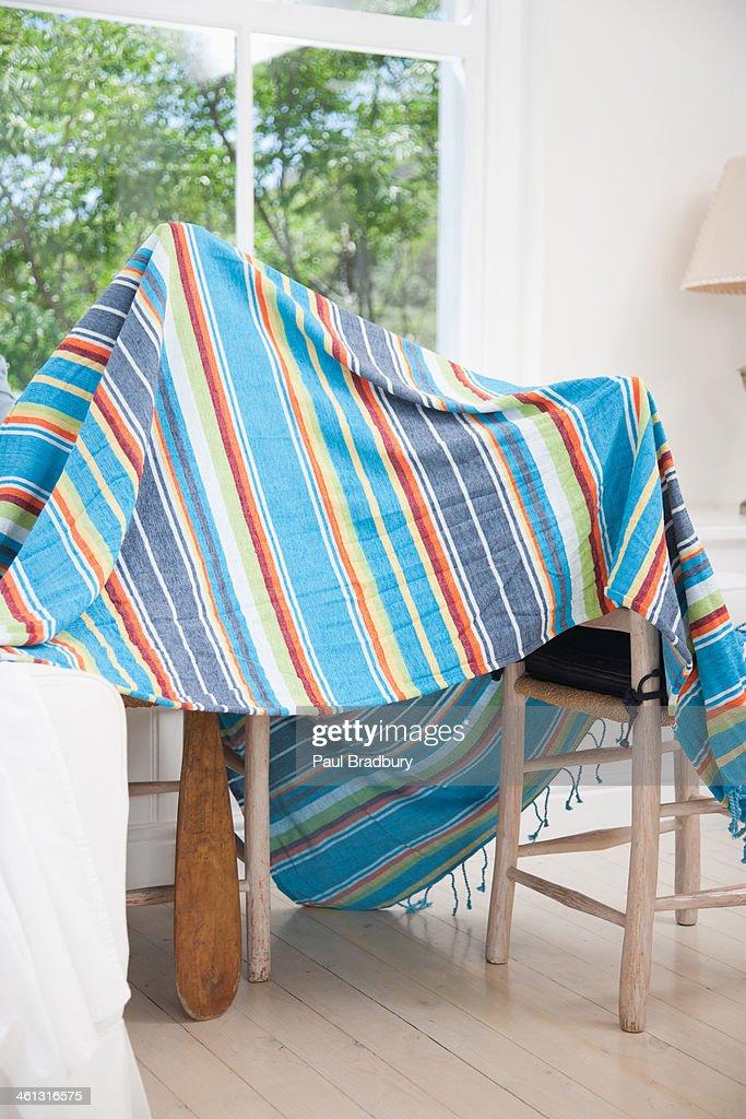 Blanket tent : Stock Photo