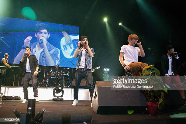 Blas Canto Alvaro Gango Dani Fernandez and David Lafuente of Spanish band Auryn perform live on stage at the Primavera Pop 2013 music festival in...