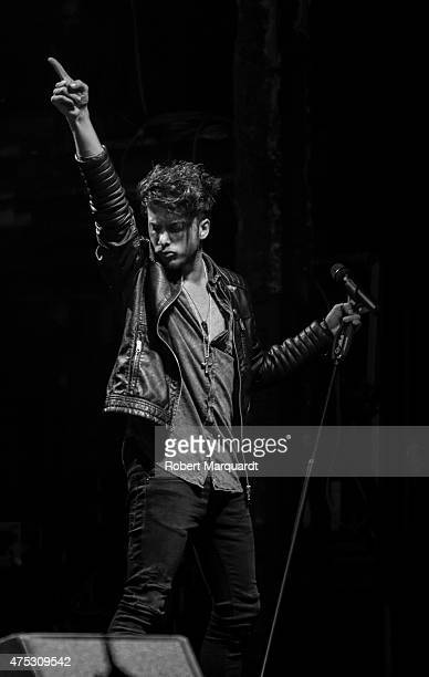 Blas Canto of Auryn performs on stage at the Razzmatazz on May 30 2015 in Barcelona Spain