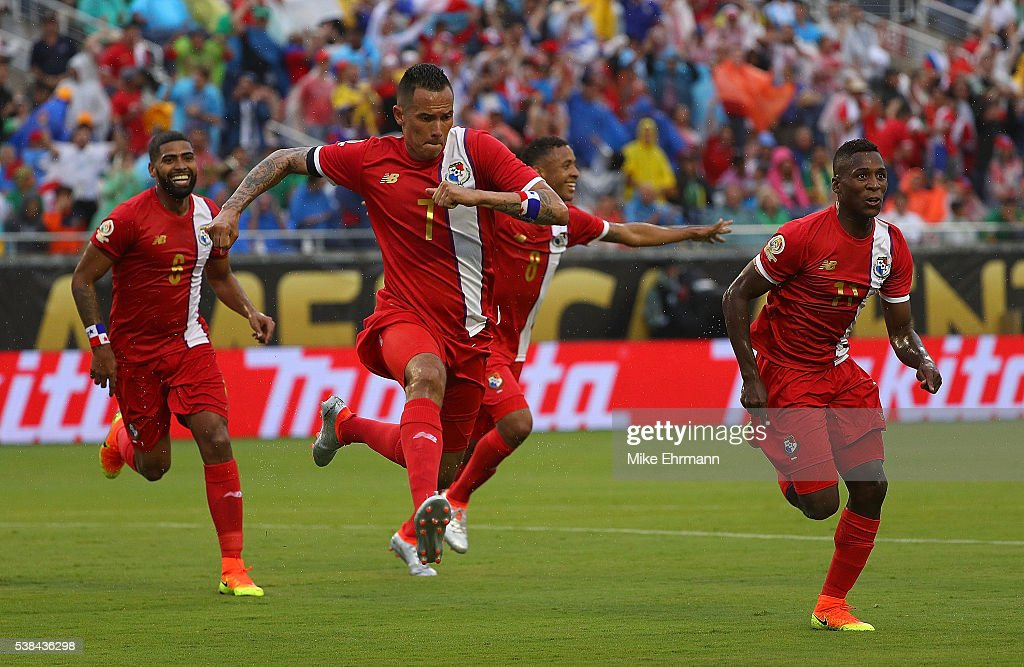 <a gi-track='captionPersonalityLinkClicked' href=/galleries/search?phrase=Blas+Perez&family=editorial&specificpeople=4084276 ng-click='$event.stopPropagation()'>Blas Perez</a> #7 of Panama celebrates a goal during a match against the Bolivia during the 2016 Copa America Group D at Camping World Stadium on June 6, 2016 in Orlando, Florida.
