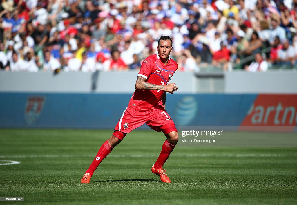 <a gi-track='captionPersonalityLinkClicked' href=/galleries/search?phrase=Blas+Perez&family=editorial&specificpeople=4084276 ng-click='$event.stopPropagation()'>Blas Perez</a> #7 of Panama pursues the ball during the international men's friendly match against the USA at StubHub Center on February 8, 2015 in Los Angeles, California. The USA defeated Panama 2-0.