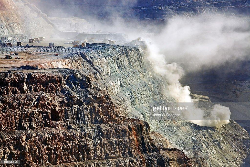 Blast at Kalgoorlie Super pit gold mine,