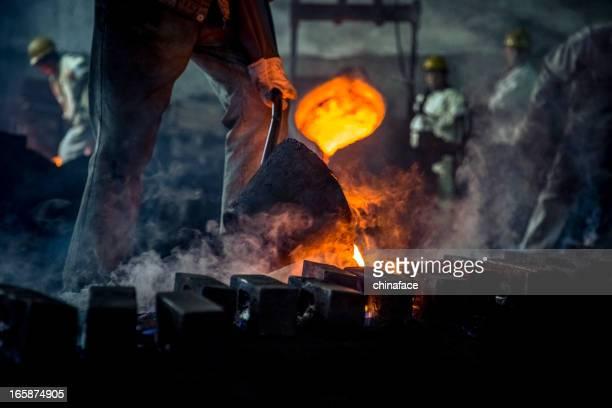 Blast furnace at metallurgical plant