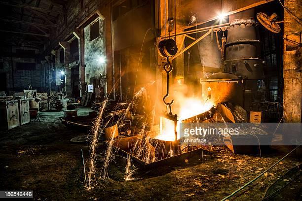Hochofen im metallurgical plant