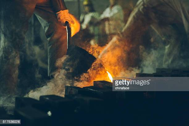 Haut fourneau à l'usine metallurgical