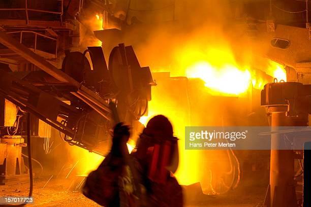 blast furnace at steel mill