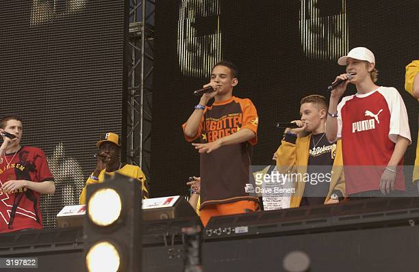 Blazin Squad perform at Party In The Park 2003 For The Princes Trust in Hyde Park on July 6 2003 in London