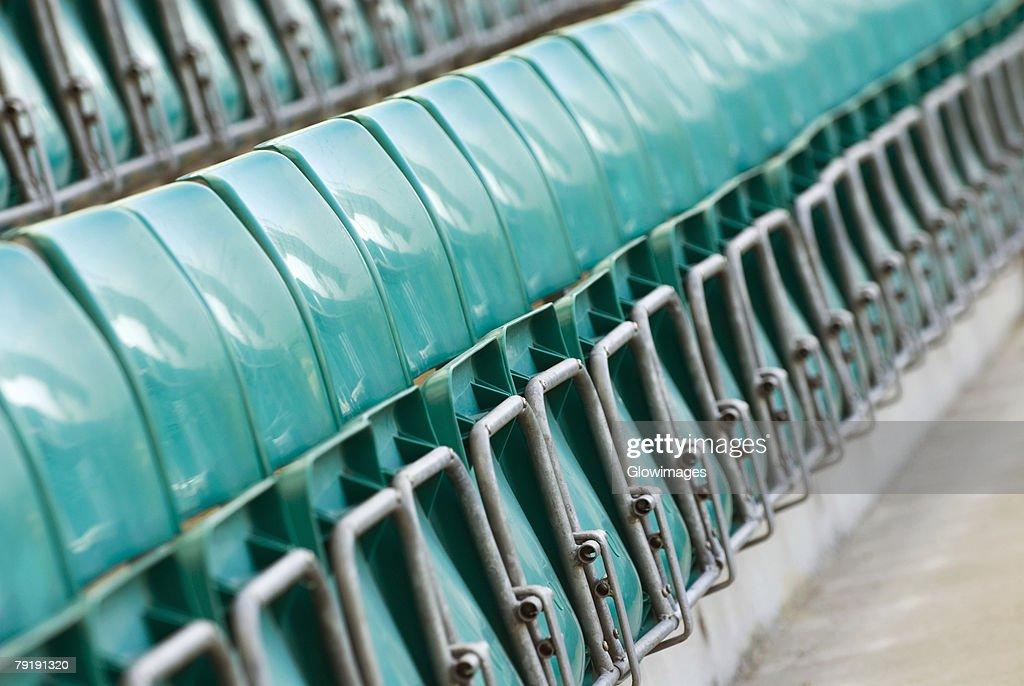 Bleachers in a stadium : Stock Photo