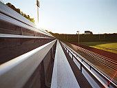 Bleachers of track and field stadium