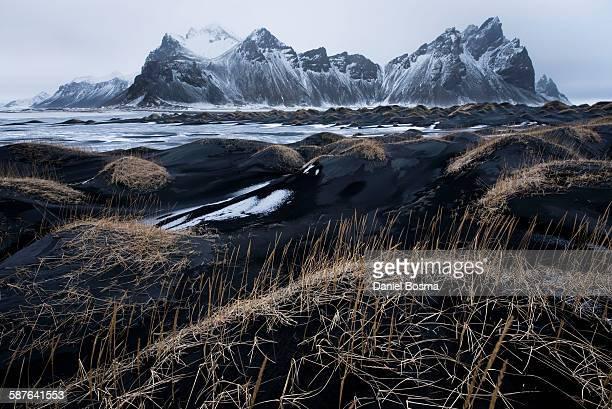 Bleak Icelandic volcanic landscape